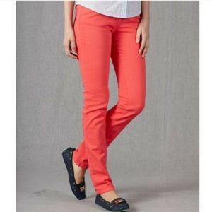 Anthropologie Boden Denim Jeans Coral Skinny Pants